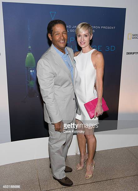 Bryant Gumbel and Hilary Quinlan arrive at the Deepsea Challenge 3D New York Premiere at the American Museum of Natural History on August 4 2014 in...