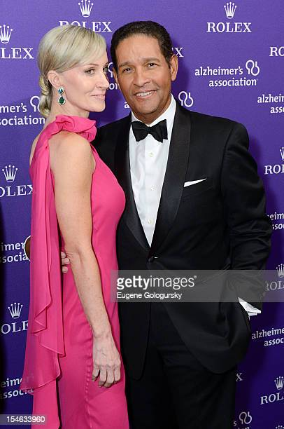 Bryant Gumbel and Hilary Quinlan attend the 2012 Alzheimer Association Rita Hayworth Gala at The Waldorf Astoria on October 23 2012 in New York City