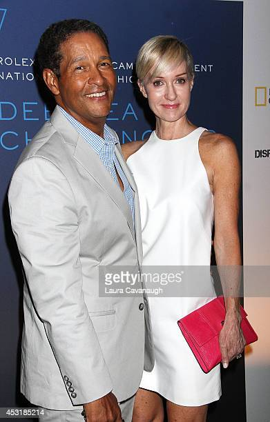 Bryant Gumbel and Hilary Quinlan attend the Deepsea Challenge 3D New York Premiere at the American Museum of Natural History on August 4 2014 in New...