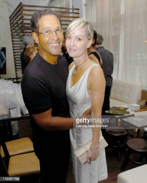 Bryant Gumbel and Hilary Quinlan during Celebrity Waiters Serve Up Sapa's Southeast Asian Cuisine to Benefit Project ALS at Sapa Restaurant in New...