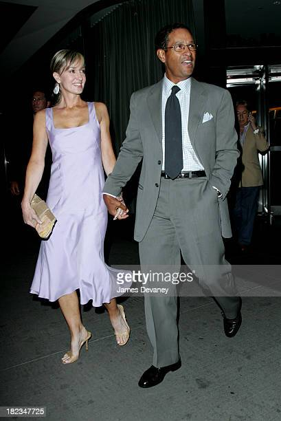 Bryant Gumbel and Hilary Quinlan during Scoop New York Screening Departures at The Museum of Modern Art in New York City New York United States