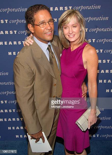 Bryant Gumbel and Hilary Quinlan during The Inauguration of The Hearst Tower at The Hearst Tower in New York City New York United States