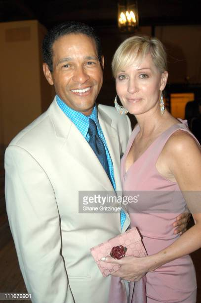 Bryant Gumbel and Hillary Gumbel during George Lang's Surprise 80th Birthday Party at Cafe des Artistes in New York City New York United States