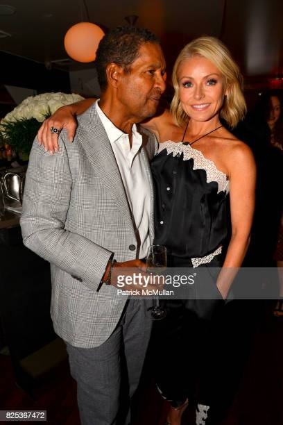 Bryant Gumbel and Kelly Ripa attend Michael Gelman Celebrates The Launch Of CLASS MOM A Novel By Laurie Gelman at Loi Estiatorio on July 26 2017 in...