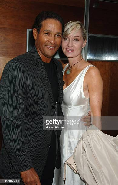 Bryant Gumbel and wife Hilary during Celebrities Wait Tables To Benefit Project ALS at Sapa in New York City New York United States