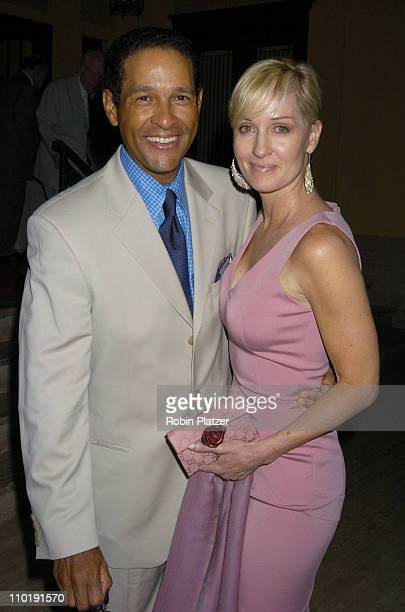 Bryant Gumbel and wife Hilary during George Lang's Surprise 80th Birthday Party at Cafe des Artistes in New York City New York United States