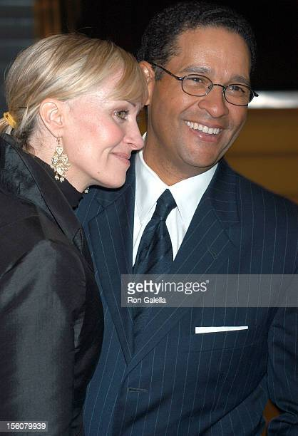 Bryant Gumbel and wife Hilary Quinlan during 'Audrey Hepburn: The Beauty of Compassion', A Charity Auction To Benefit UNICEF at Sotheby's in New York...