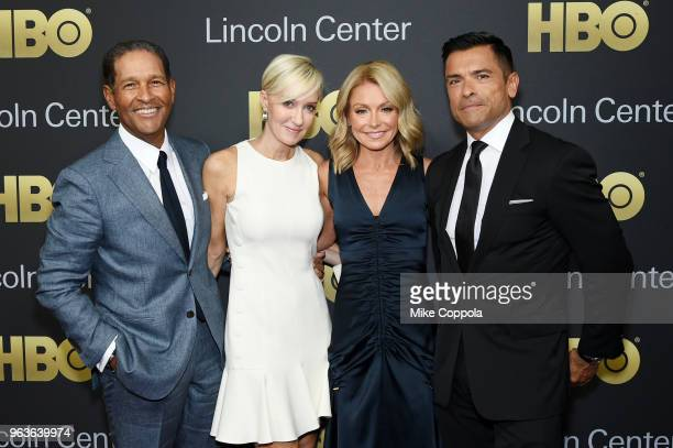 Bryant Gumbel Hilary Quinlan Kelly Ripa and Mark Consuelos attend Lincoln Center's American Songbook Gala at Alice Tully Hall on May 29 2018 in New...