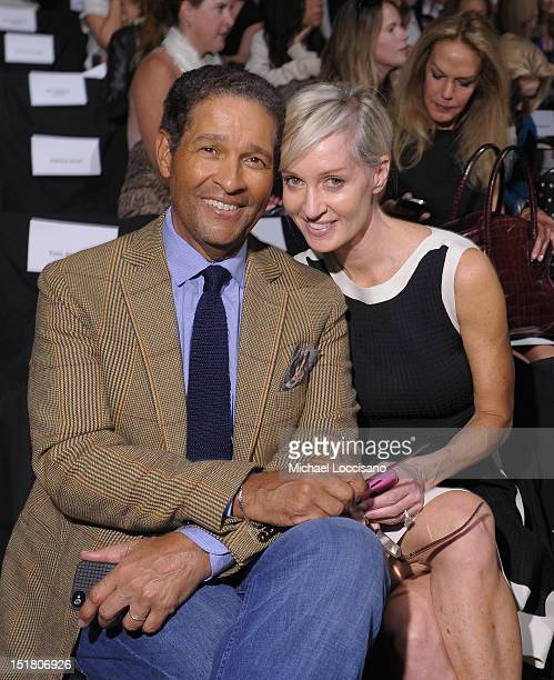 Bryant Gumble and Hilary Quinlan attend the Naeem Khan Spring 2013 fashion show during MercedesBenz Fashion Week at The Theatre Lincoln Center on...