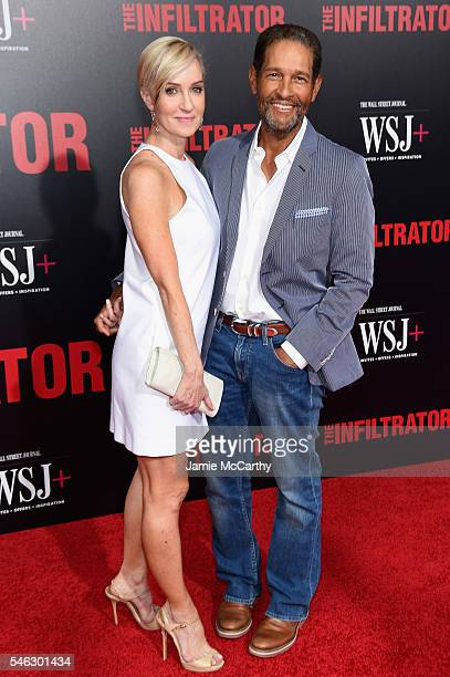 Bryant Gumble and wife Hilary Quinlan attend the The Infiltrator New York premiere at AMC Loews Lincoln Square 13 theater on July 11 2016 in New York...