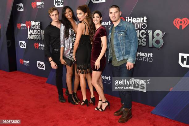 Bryant Lowry Alisa Beth Alexandra Harper Rachyl Degman and Kerry Degman arrive at the 2018 iHeartRadio Music Awards which broadcasted live on TBS TNT...