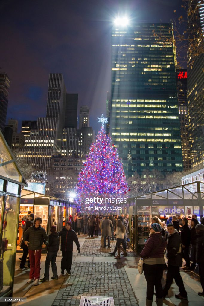 Bryant Park Christmas.Bryant Park Christmas Tree High Res Stock Photo Getty Images