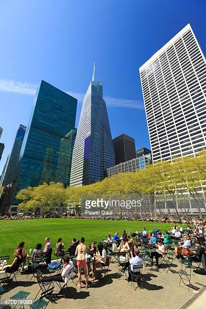 ブライアントパーク、ニューヨークマンハッタンのミッドタウン、 - ブライアント公園 ストックフォトと画像