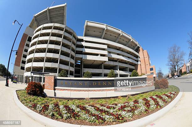 bryant-denny stadium and sign - tuscaloosa stock pictures, royalty-free photos & images