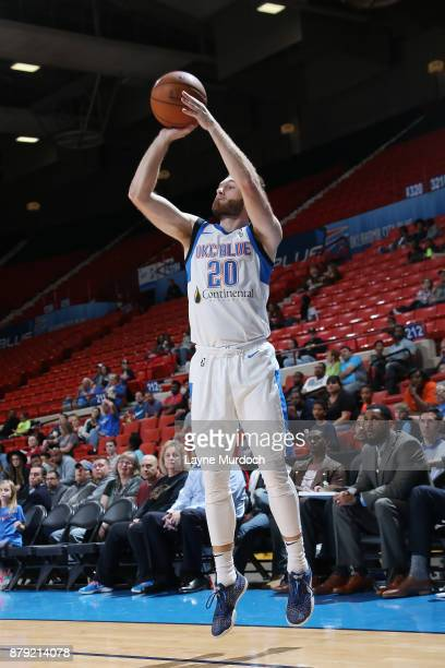 Bryce Alford of the Oklahoma City Blue shoots the ball during a NBA GLeague game against the Agua Caliente Clippers on November 25 2017 at the Cox...