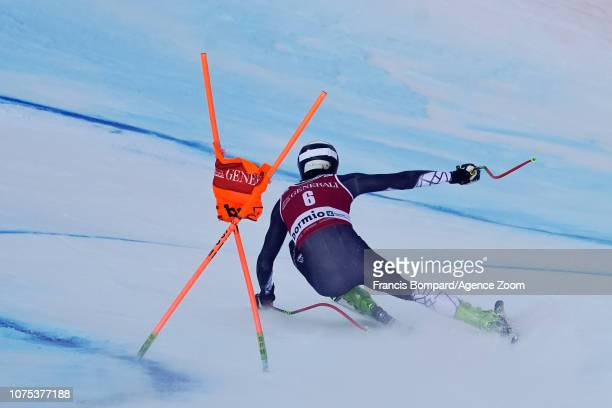 Bryce Bennett of USA competes during the Audi FIS Alpine Ski World Cup Men's Downhill on December 28, 2018 in Bormio Italy.