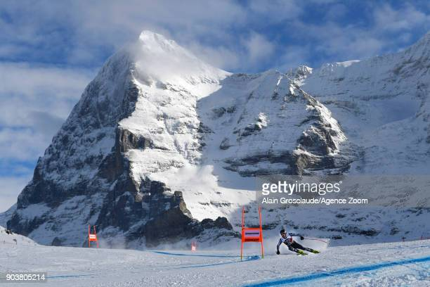 Bryce Bennett of USA during the Audi FIS Alpine Ski World Cup Men's Downhill Training on January 11 2018 in Wengen Switzerland
