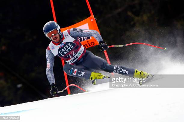 Bryce Bennett of USA in action during the Audi FIS Alpine Ski World Cup Men's Downhill Training on December 26 2017 in Bormio Italy