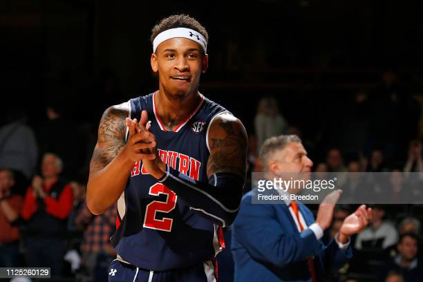 Bryce Brown of the Auburn Tigers claps during the final moments of the second half of a 6453 Auburn victory over the Vanderbilt Commodores at...