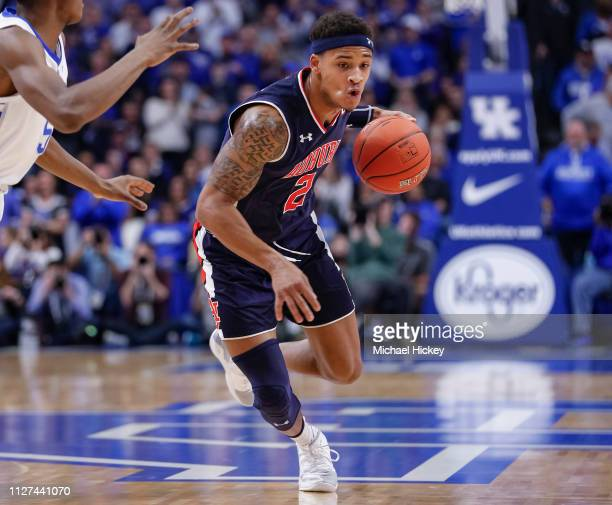 Bryce Brown of the Auburn Tigers drives to the basket during the game against the Kentucky Wildcats at Rupp Arena on February 23 2019 in Lexington...