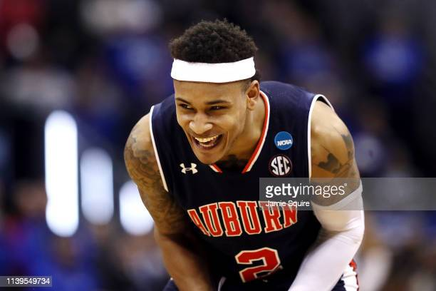 Bryce Brown of the Auburn Tigers reacts during the second half against the Kentucky Wildcats during the 2019 NCAA Basketball Tournament Midwest...