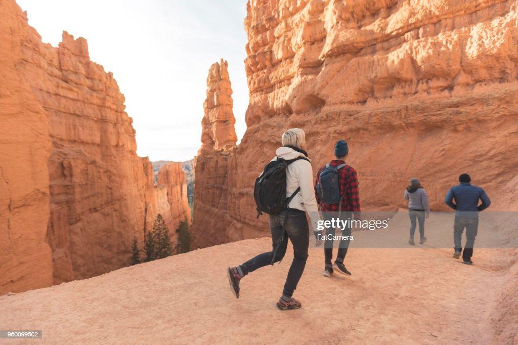 Bryce Canyon wandern Abenteuer : Stock-Foto