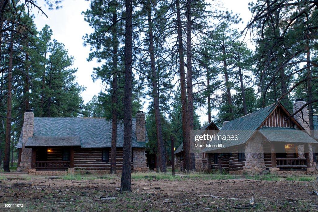 Bryce Canyon Lodge cabins : Stock-Foto