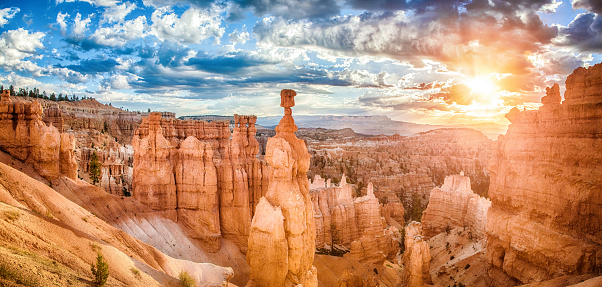 Bryce Canyon National Park at sunrise with dramatic sky, Utah, USA 921951796