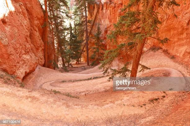Bryce Canyon National Park. Switchbacks on Peekaboo Trail