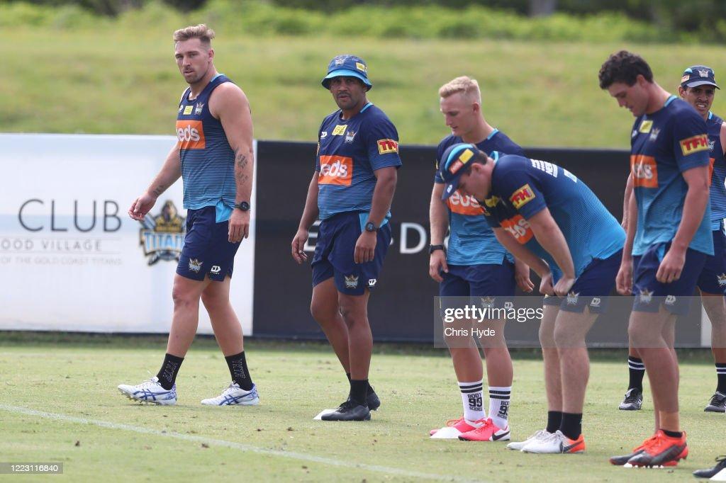 Gold Coast Titans Training Session : News Photo