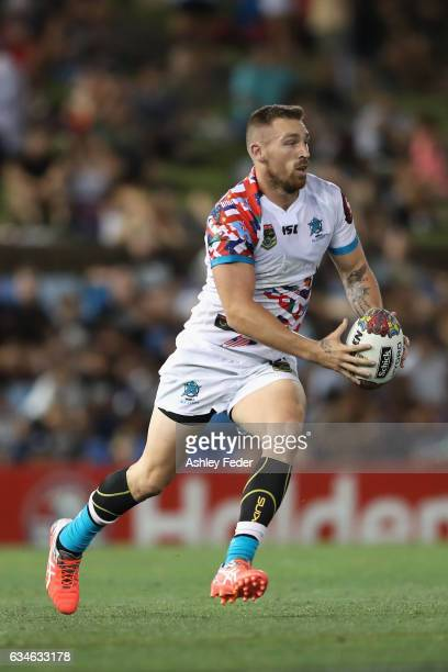 Bryce Cartwright of the World All Stars in action during the NRL All Stars match between the 2017 Harvey Norman All Stars and the NRL World All Stars...