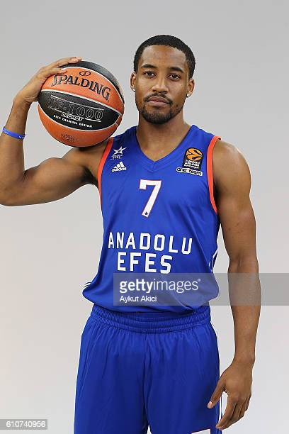 Bryce Cotton #7 of Anadolu Efes Istanbul poses during the 2016/2017 Turkish Airlines EuroLeague Media Day at Abdi Ipekci Arena on September 27 2016...