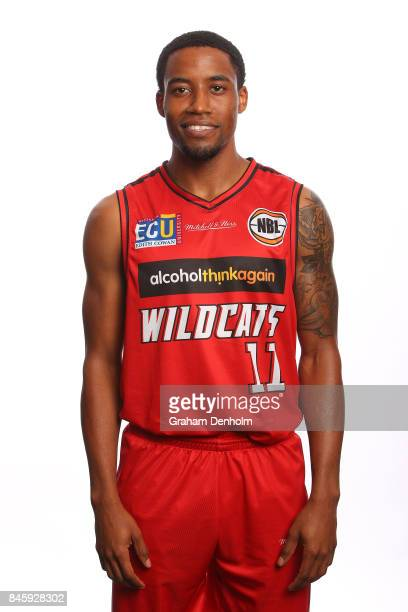 Bryce Cotton of the Perth Wildcats poses during the 2017/18 NBL Media Day at Crown Entertainment Complex on September 11 2017 in Melbourne Australia