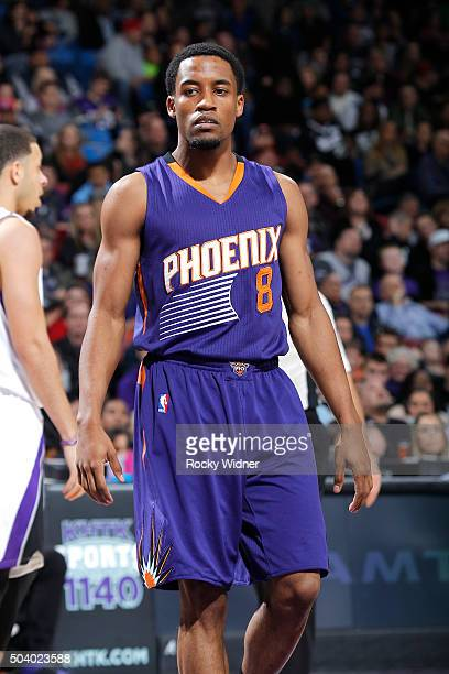 Bryce Cotton of the Phoenix Suns looks on during the game against the Sacramento Kings on January 2 2016 at Sleep Train Arena in Sacramento...