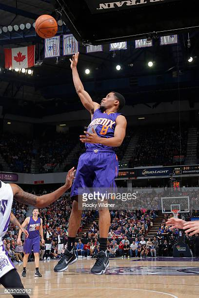 Bryce Cotton of the Phoenix Suns shoots the ball against the Sacramento Kings on January 2 2016 at Sleep Train Arena in Sacramento California NOTE TO...