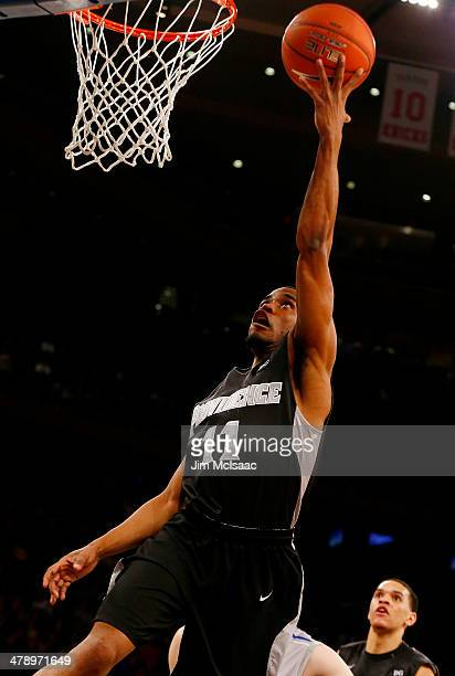 Bryce Cotton of the Providence Friars shoots against the Creighton Bluejays in the first half during the Championship game of the 2014 Men's Big East...
