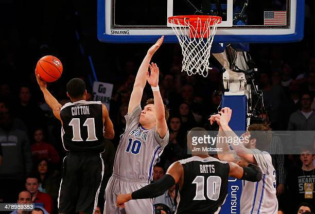 Bryce Cotton of the Providence Friars shoots against the Creighton Bluejays in the second half during the Championship game of the 2014 Men's Big...
