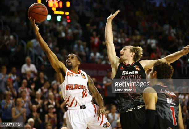 Bryce Cotton of the Wildcats during the round four NBL match between the Illawarra Hawks and the Perth Wildcats at Wollongong Entertainment Centre on...