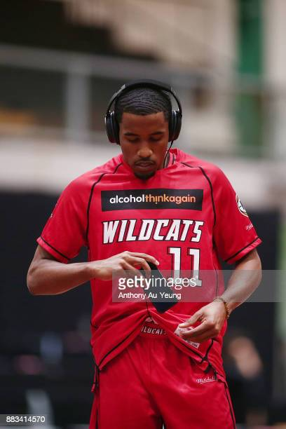 Bryce Cotton of the Wildcats during warm up prior to the round eight NBL match between the New Zealand Breakers and the Perth Wildcats at North Shore...