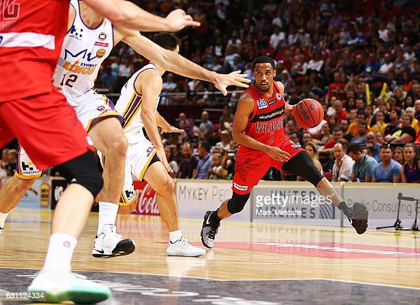Bryce Cotton of the Wildcats in action during the round 14 NBL match between the Sydney Kings and the Perth Wildcats at Qudos Bank Arena on January 7...