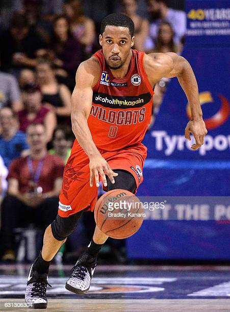 Bryce Cotton of the Wildcats in action during the round 14 NBL match between the Brisbane Bullets and the Perth Wildcats at Brisbane Convention...