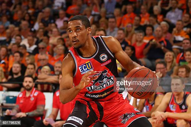 Bryce Cotton of the Wildcats in action during the round 15 NBL match between the Cairns Taipans and the Perth Wildcats at Cairns Convention Centre on...
