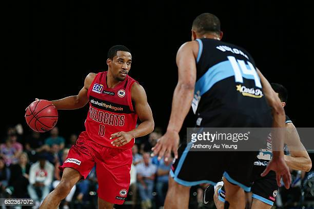 Bryce Cotton of the Wildcats in action during the round 16 NBL match between the New Zealand Breakers and the Perth Wildcats at Vector Arena on...