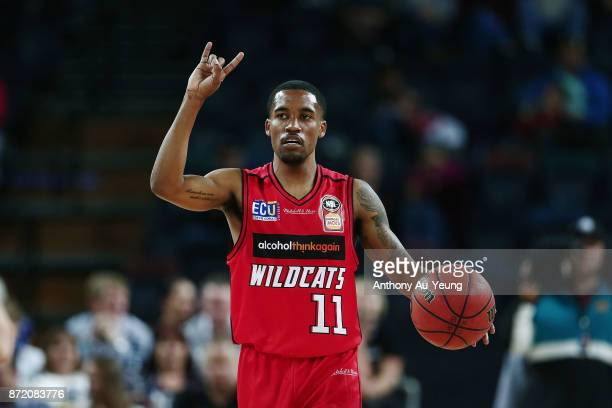 Bryce Cotton of the Wildcats in action during the round six NBL match between the New Zealand Breakers and the Perth Wildcats at Spark Arena on...