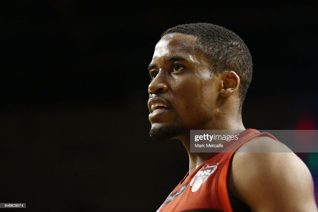 Bryce Cotton of the Wildcats looks on during game two of the NBL Grand Final series between the Perth Wildcats and the Illawarra Hawks at WIN Entertainment Centre on March 1, 2017 in Wollongong, Australia.