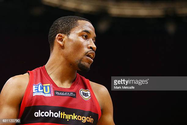 Bryce Cotton of the Wildcats looks on during the round 14 NBL match between the Sydney Kings and the Perth Wildcats at Qudos Bank Arena on January 7...