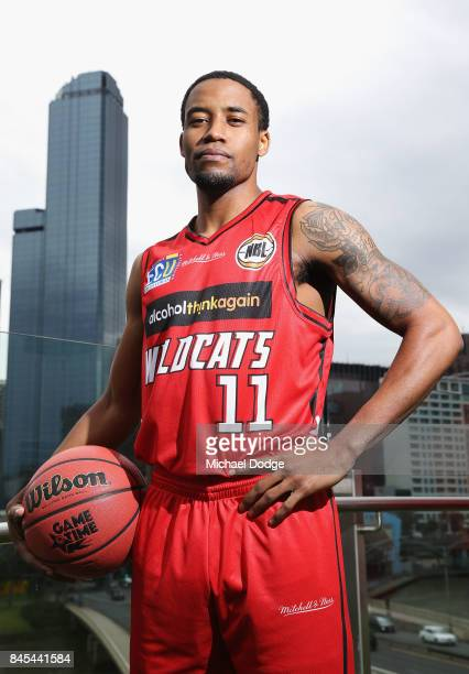 Bryce Cotton of the Wildcats poses during the 2017/18 NBL and WNBL Season Launch at Crown Towers on September 11 2017 in Melbourne Australia