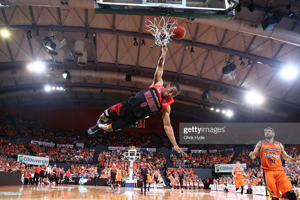Bryce Cotton of the Wildcats shoots during the NBL Semi Final Game 1 match between Cairns Taipans and Perth Wildcats at Cairns Convention Centre on February 17, 2017 in Cairns, Australia.