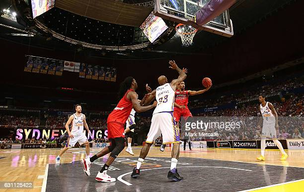 Bryce Cotton of the Wildcats shoots during the round 14 NBL match between the Sydney Kings and the Perth Wildcats at Qudos Bank Arena on January 7...