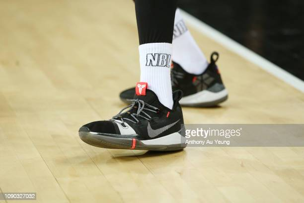 Bryce Cotton of the Wildcats wears the Nike Kobe AD during the round 12 NBL match between the New Zealand Breakers and the Perth Wildcats at Spark...